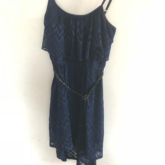 AUW blue boho dress size M